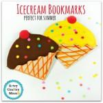 Ice cream bookmark corner